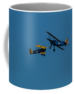 Biplanes Near Collision 5x7 Coffee Mug
