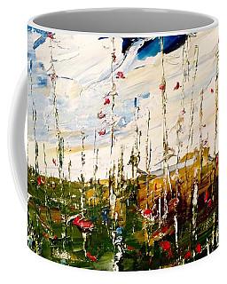Birch And Clouds Coffee Mug
