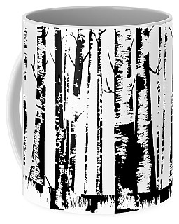 Birch Forest Black Coffee Mug