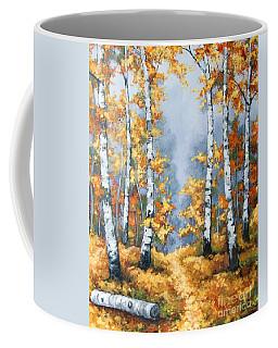Birch Forest Path Coffee Mug