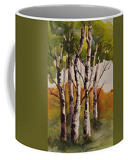 Birch Coffee Mug by Marilyn Jacobson
