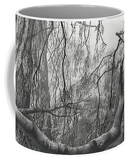 Birch Tree In Rain Coffee Mug
