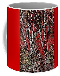 Birch Tree Mosaic Coffee Mug
