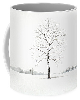 Birch Tree Upon The Winter Plain Coffee Mug