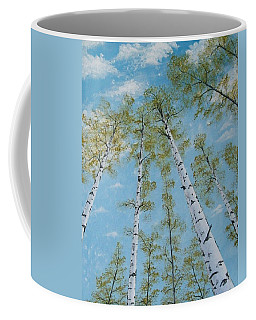 Birch Trees And Sky Coffee Mug