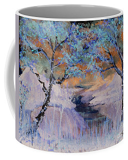 Coffee Mug featuring the painting Birch Trees On The Ridge 2 by Reed Novotny