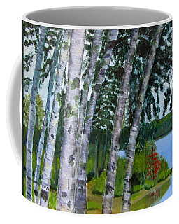 Birches At First Connecticut Lake Coffee Mug