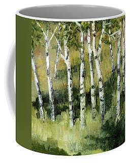 Birches On A Hill Coffee Mug