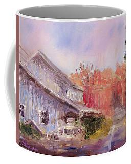 Coffee Mug featuring the painting Birchwood by Jason Williamson