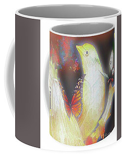 Bird And Butterflies Coffee Mug Coffee Mug