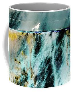 Bird At The Abstract Fountain Coffee Mug