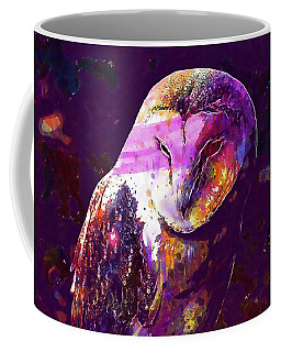 Coffee Mug featuring the digital art Bird Barn Owl Owl Barn Animal  by PixBreak Art