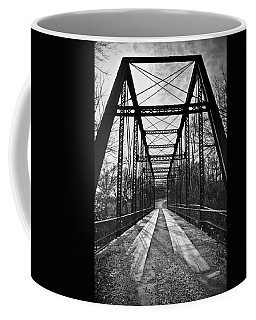 Bird Bridge Black And White Coffee Mug