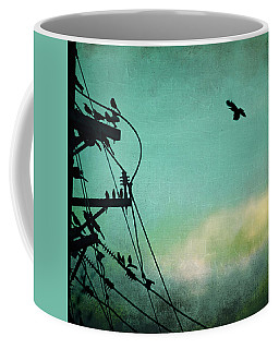 Coffee Mug featuring the photograph Bird City Revisited by Trish Mistric