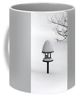 Bird Feeder In Snow Coffee Mug