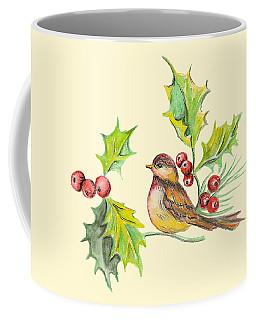 Bird Holly And Berries Coffee Mug