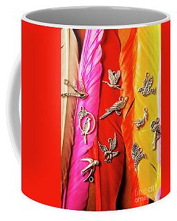 Bird Icons And Rainbow Feathers Coffee Mug