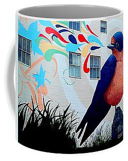 San Francisco Blue Bird Painting Mural In California Coffee Mug