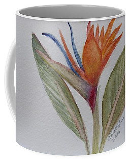 Coffee Mug featuring the painting Bird Of Paradise by Donna Walsh