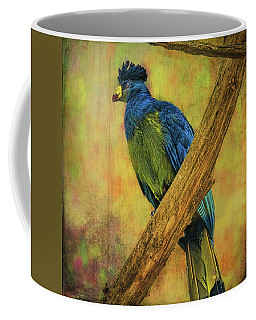 Coffee Mug featuring the photograph Bird On A Branch by Lewis Mann