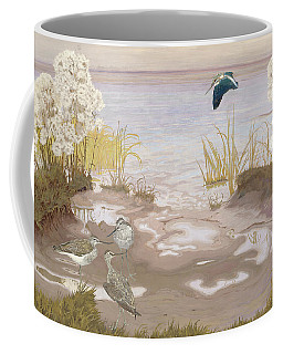 Bird On The Mud Flats Of The Elbe Coffee Mug