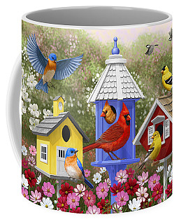 Bird Painting - Primary Colors Coffee Mug