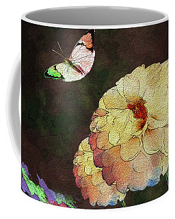 Flower Knows, When Its Butterfly Will Return Coffee Mug