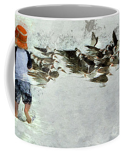 Coffee Mug featuring the photograph Bird Play by Claire Bull