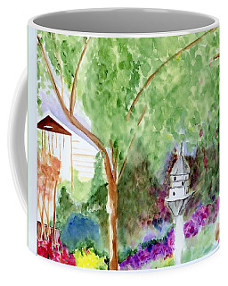 Coffee Mug featuring the painting Birdhouse by Jamie Frier