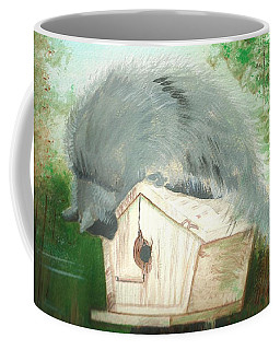 Coffee Mug featuring the painting Birdie In The Hole by Denise Fulmer