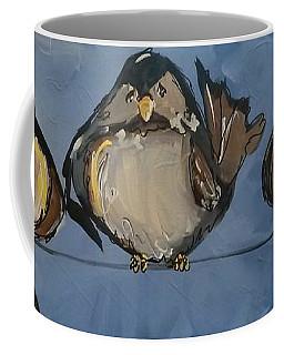 Birdies On A Wire Coffee Mug