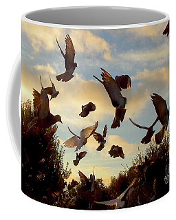 Birds And Fun At Butler Park Austin - Birds 1 Coffee Mug