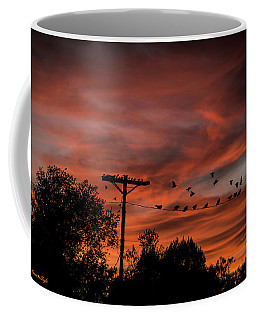 Birds And Sunset Coffee Mug
