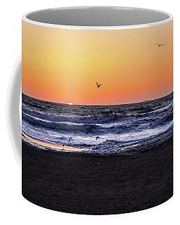 Coffee Mug featuring the photograph Birds At Sunrise by Nicole Lloyd