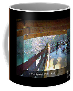 Birds Boaters And Bridges Of Barton Springs - Bridges One Greeting Card Poster V2 Coffee Mug