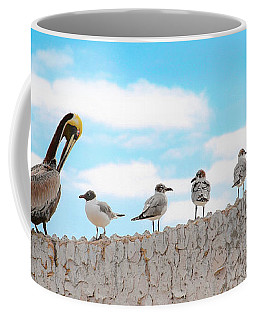 Birds Catching Up On News Coffee Mug