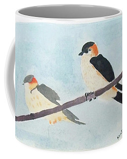 Birds Couple Coffee Mug by Keshava Shukla