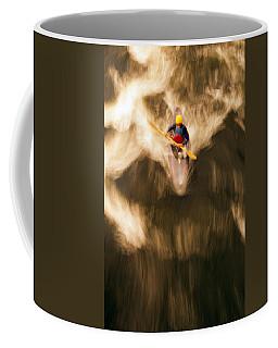 Birds-eye View Of Kayaker Coffee Mug