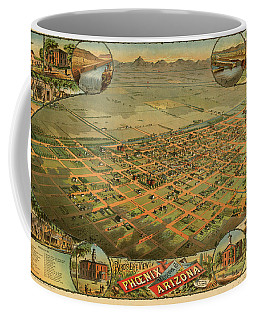 Bird's Eye View Of Phoenix, Maricopa County, Arizona Coffee Mug