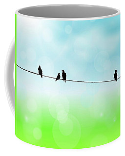 Birds Hanging Around Coffee Mug