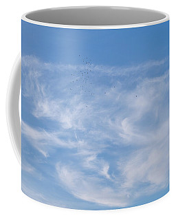 Coffee Mug featuring the photograph Birds In The Sky by Jenny Rainbow