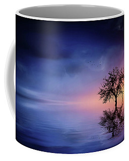 Birds In The Trees, Some Are Fleeing Coffee Mug by Bess Hamiti