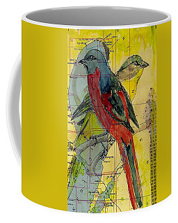 Birds On A Map Coffee Mug