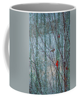 Birds On A Snowy Day Coffee Mug