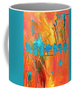 Birds On A Wire Modern Art Coffee Mug
