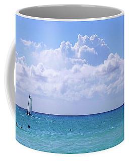 Coffee Mug featuring the photograph Birds On The Beach M4 by Francesca Mackenney