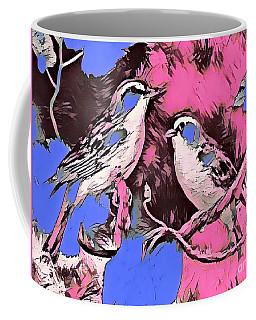 Birds Pink And Blue Coffee Mug