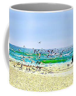 Birds Taking Off Coffee Mug by Ellen O'Reilly