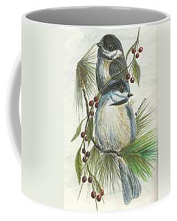 Birds Two And Fir Tree Coffee Mug
