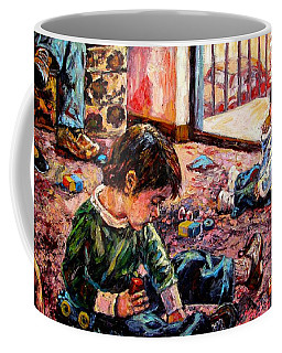 Coffee Mug featuring the painting Birthday Party Or A Childs View by Kendall Kessler
